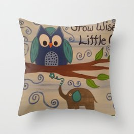 Grow Wise Little One Throw Pillow