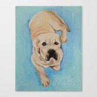 miles davis Canvas Prints featuring miles by Lynn Monroe