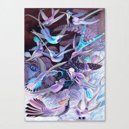 Ode to Haeckel's Hummingbirds Canvas Print