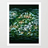 switzerland Art Prints featuring Switzerland by Steebz