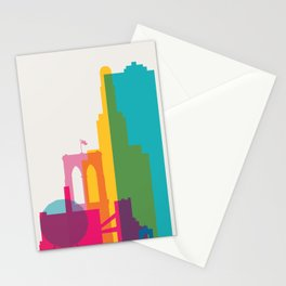 Shapes of Brooklyn. Accurate to scale Stationery Cards
