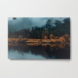 Moody Yosemite Reflections Metal Print