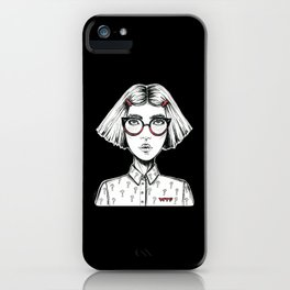 WTF GIRL iPhone Case