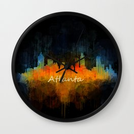 Atlanta City Skyline UHq v4 Wall Clock
