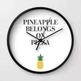 Pineapple Pizza Wall Clock