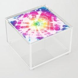 Tie-Dye Sunburst Rainbow Acrylic Box