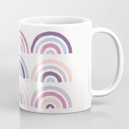 Stamped Rainbows - Plum Coffee Mug