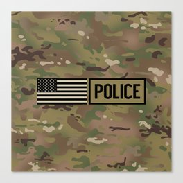 Police: Woodland Camouflage Canvas Print