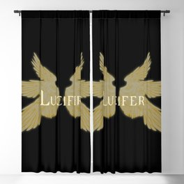Lucifer with Wings Light Blackout Curtain