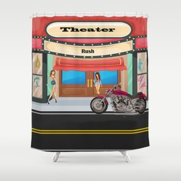Theater by Liane Wright Shower Curtain