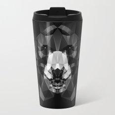 Bear - Black Geo Animal Series Travel Mug