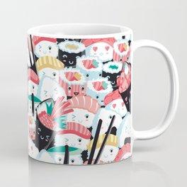 Kawaii Sushi Crowd Coffee Mug