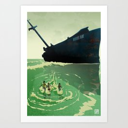 Shipyard Kings Running Art Print