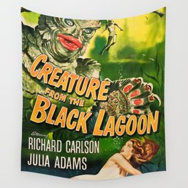 Creature from the Black Lagoon, vintage horror movie poster Wall Tapestry