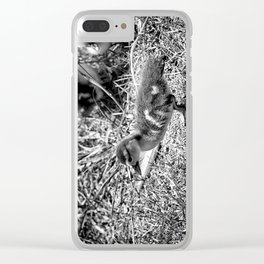 Leader - Black & White Clear iPhone Case