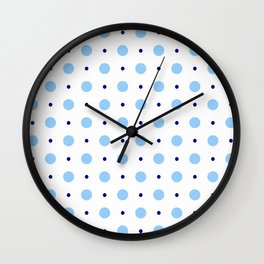 new polka dot 89 blue Wall Clock