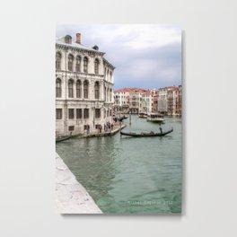 Venezia-Le Gondolier Metal Print