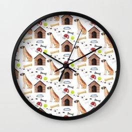 Great Dane Half Drop Repeat Pattern Wall Clock