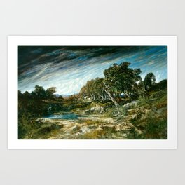 Gustave Courbet - The Gust of Wind Art Print