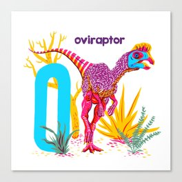 O is for Oviraptor Canvas Print