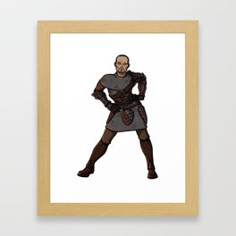 Strong Female Pose - Justice Framed Art Print