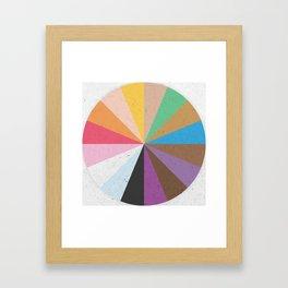 Rainbow Wheel of Inclusivity Framed Art Print