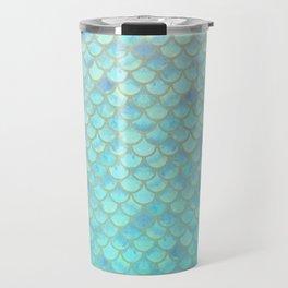 Teal Mermaid Scales Travel Mug
