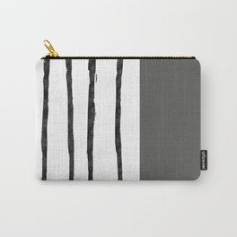Mineral Slate | Modern Watercolor Carry-All Pouch