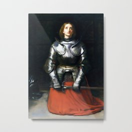 Joan Of Arc by John Everett Millais 1865, Artwork for Wall Art, Prints, Posters, Tshirts, Men, Women, Kids Metal Print