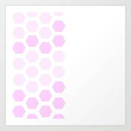 Pink Hex Art Print