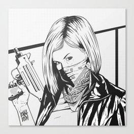 Bad Girl Gigi Canvas Print