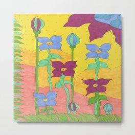 Sunshine Garden Bohemian Art Metal Print