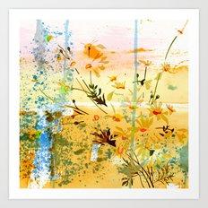 flowers at the beach Art Print