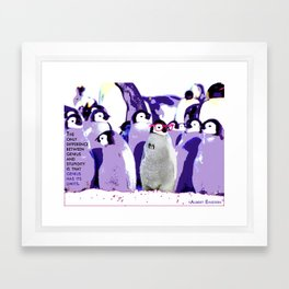 The Pen(guin) is Mightier than the Sword Framed Art Print