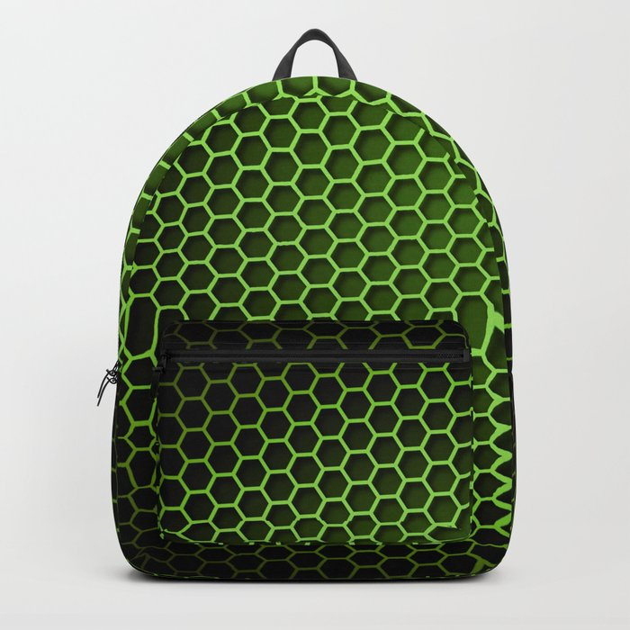 Honeycomb Background Green Backpack