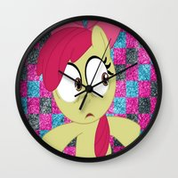 mlp Wall Clocks featuring Apple Bloom MLP by Maranda Rae