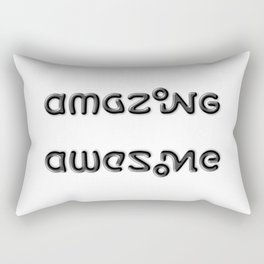 AMAZING AWESOME ambigram Rectangular Pillow