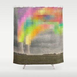 Atomic Peace Shower Curtain