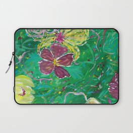 Green Abstract Painting Laptop Sleeve