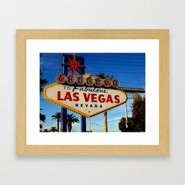 Las Vegas Sign Framed Art Print