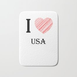 usa classic. I love my favorite country. Bath Mat