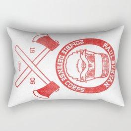 Paul Bunyan Zombie Defense Corps Rectangular Pillow