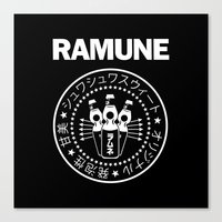 ramones Canvas Prints featuring Ramune Punk Rock Print by Jonathan Lefrançois