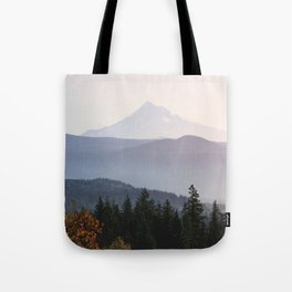Mount Hood over the Columbia River Gorge Tote Bag