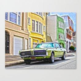 Retro Car San Fransisco  Canvas Print