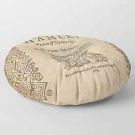 Shakespeare, Hamlet 1603 Floor Pillow