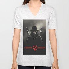 V for Vendetta (e2) Unisex V-Neck