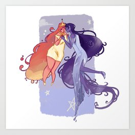 Dreamy Bubbline Art Print