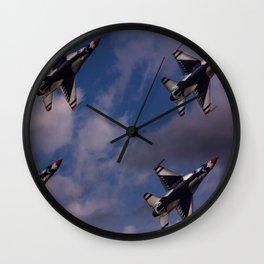 USAF Thunderbirds In Diamond Formation Wall Clock