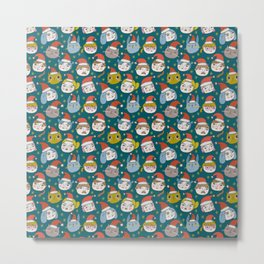 Pattern Project / Little Santas Metal Print
